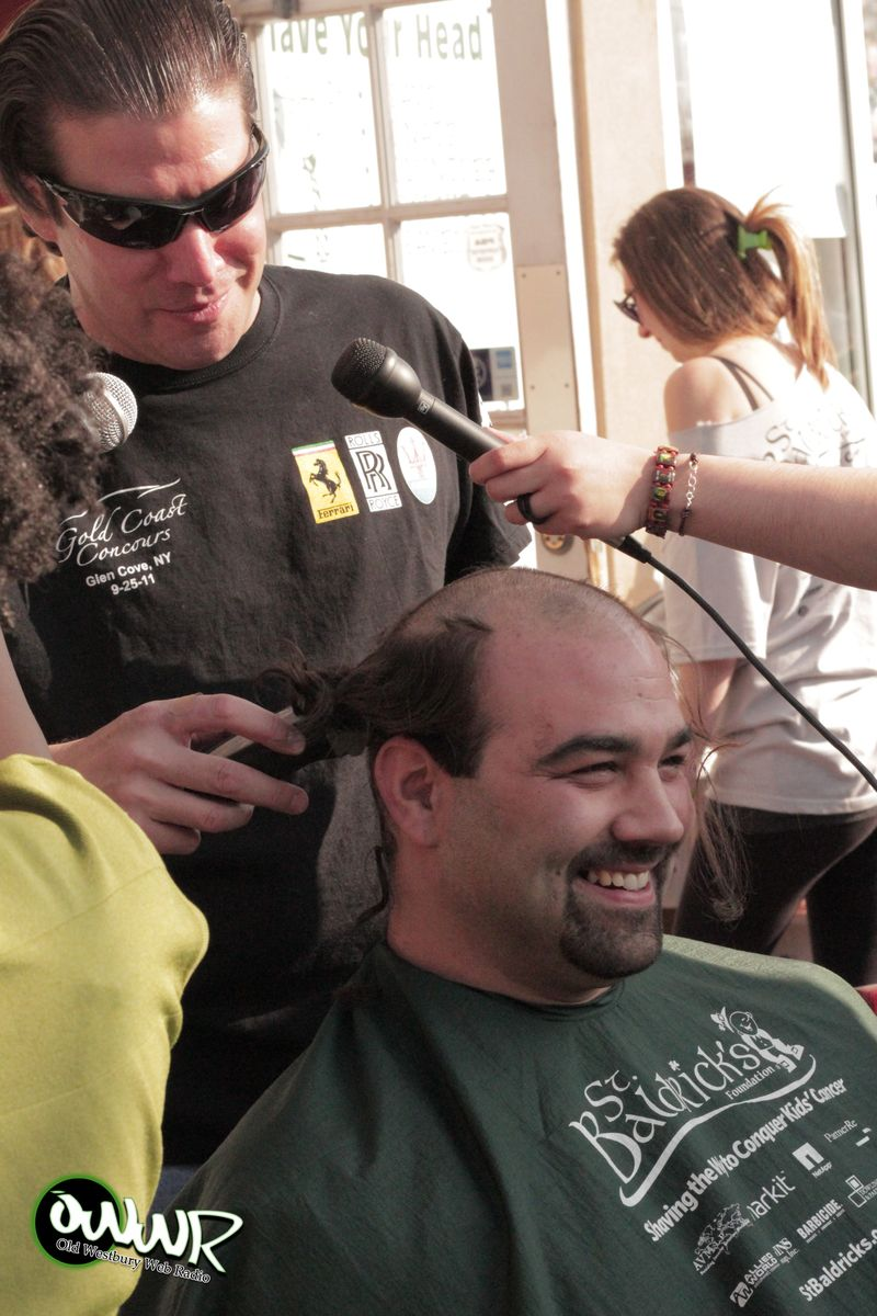 OWWR STATION MANAGER JOE MANFREDI SHAVES OWWR PROGRAM DIRECTOR TOM GUBELLI'S HEAD!