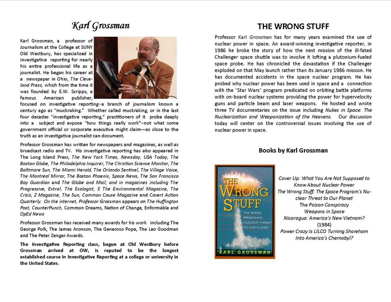 HONORS COLLEGE PRESENTS KARL GROSSMAN