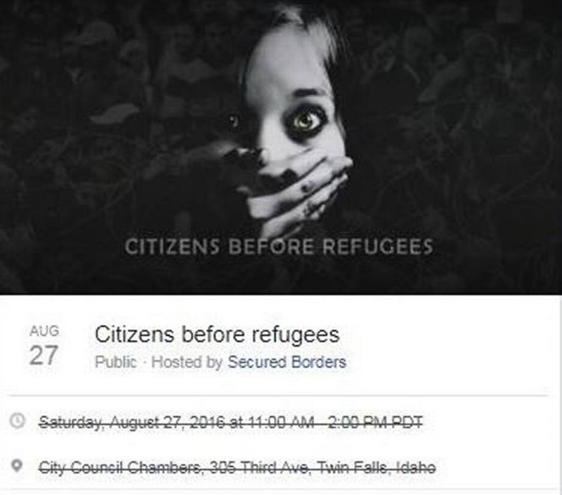 Citzens before Refugees FB Group