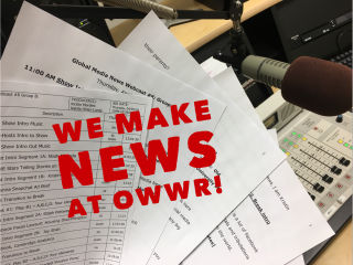 We Make News at OWWR Studio C
