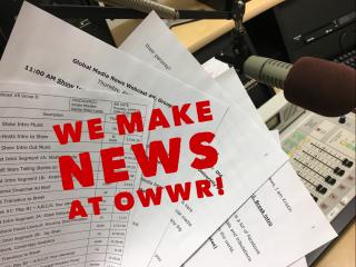 We Make News at OWWR Studio C