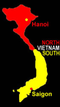 17th Parallel Vietnam Map.Vietnam After Geneva Conference